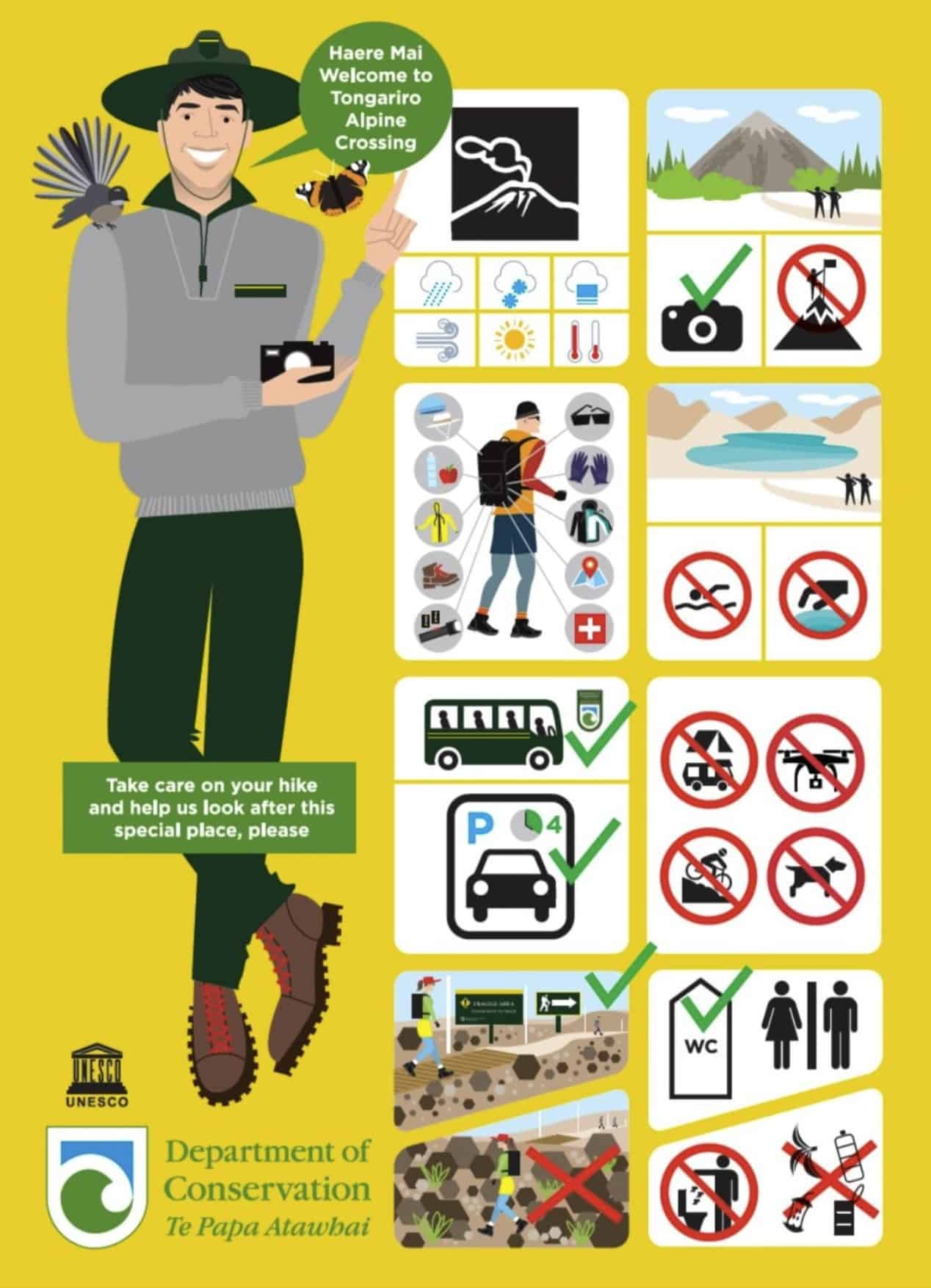 Safety Leaflet Tongariro Crossing